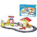 Tren de animales con bloques - 91429385