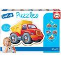 Puzzle baby puzzles vehículos 24m fsc - 04014866
