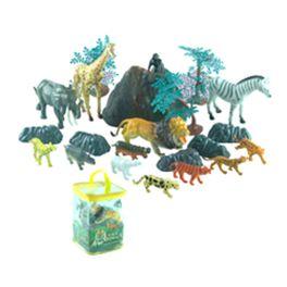 Conjunto animales salvajes en bolsa con 22 pzas