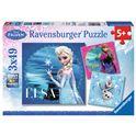 Puzzle 3 x 49 frozen - 26909269