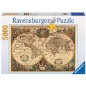 Puzzle 5000 antiguo mapamundi - 26917411