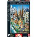 "Puzzle 1000 gaudí, collage ""miniature"" - 04011874"