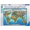 Puzzle 2000 mapa del mundo - 26916683