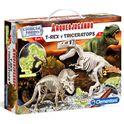 Arqueojugando t-rex y triceratops fluor - 06655054