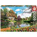 Puzzle 6000 primavera en el lago - 04016784