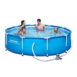 Set de piscina tubular redonda ø305x76 cm.
