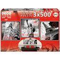 Puzzle 3 x 500 grandes ciudades - 04017096(1)
