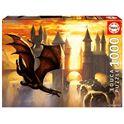 Puzzle 1000 sunset dragon - 04017312(1)