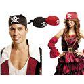 Bandana de pirata negra - 55201598