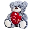 Oso gris corazon 18 cm. - 13003673