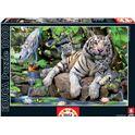 Puzzle 1000 tigres blancos de bengala - 04014808