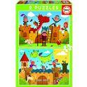 Puzzle 2x48 dragones y caballeros - 04017151