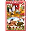 Puzzle 2x48 cuidando caballos - 04017150