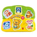 Puzzle encajable animales infantil - 96900771