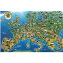 Puzzle 1500 map of europe - falcon - 09511057