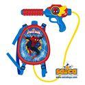 Pistola agua c/depósito mochila spiderman - 00709418