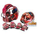 Lady bug mochila + casco + protecciones - 00705822