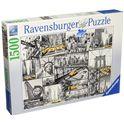Puzzle 1500 macchie di colore a new york - 26916354