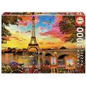 Puzzle 3000 puesta de sol en parís - 04017675