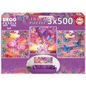 Puzzle 3 x 500 vistas tropicales - 04017688