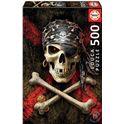 Puzzle 500 calavera pirata - 04017964