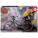 Puzzle 500 bicicleta con flores - 04017988