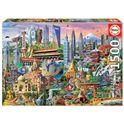 Puzzle 1500 símbolos de asia - 04017979