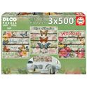 Puzzle 3x500 jardín campestre - 04017965