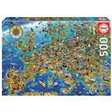 Puzzle 500 mapa de europa - 04017962