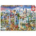 Puzzle 1500 símbolos de norte-américa - 04017670