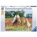 Puzzle 500 caballo entre flores - 26914831