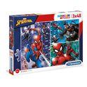 Puzzle 2 x 48 spiderman - 06625238