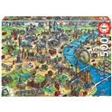 Puzzle 500 mapa de londres city maps - 04018451