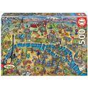 """Puzzle 500 mapa de parís """"city maps"""" - 04018452"""