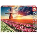 Puzzle 1500 paisaje de tulipanes - 04018465