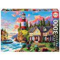 Puzzle 3000 faro cerca del océano - 04018507