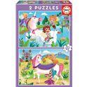 Puzzle 2x20 unicornio+hadas fsc(r) - 04018064