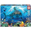 Puzzle 500 gran tiburón blanco - 04018478