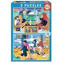 Puzzle 2x48 aeropuerto + tren - 04018604