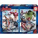 Puzzle 2x500 avengers - 04017994