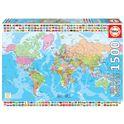 Puzzle 1500 mapamundi político - 04018500