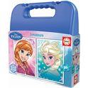 Puzzle maleta 2 x 20 frozen azul - 04016511