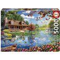 Puzzle 5000 casita en el lago - 04019056