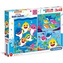 Puzzle 3x48 baby shark - 06625261