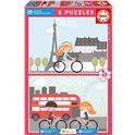 Puzzle 2x48 aldeas infantiles - 04017726