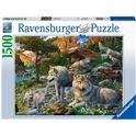 Puzzle 1500 lobos en primavera - 26916598